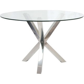 Sara Glass/ Metal Dining Table