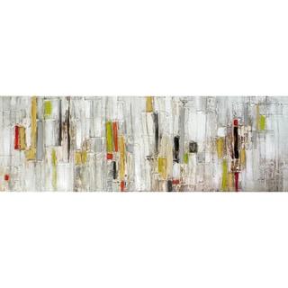 Aurelle Home Abstract Stripes Panoramic Acrylic Canvas Art