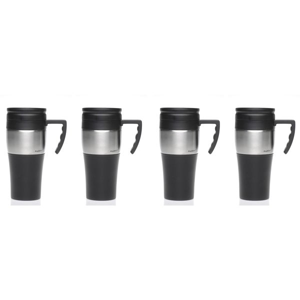 Insulated Stainless Steel Travel Mug (Set of 4)