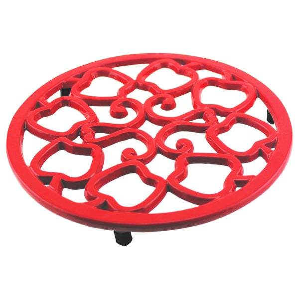 Cast Iron Apple Trivet