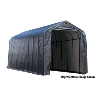 Shelterlogic Outdoor Garage Automotive Boat Car Peak Style Storage Shed (15 feet wide x 40 feet long x 16 feet high)