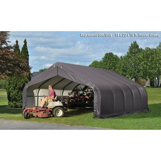 ShelterLogic Outdoor Peak Style Storage Grey Shed (18 x 20 x 10)
