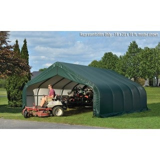 ShelterLogic Outdoor Peak Style Green Storage Shed (18 x 20 x 10)