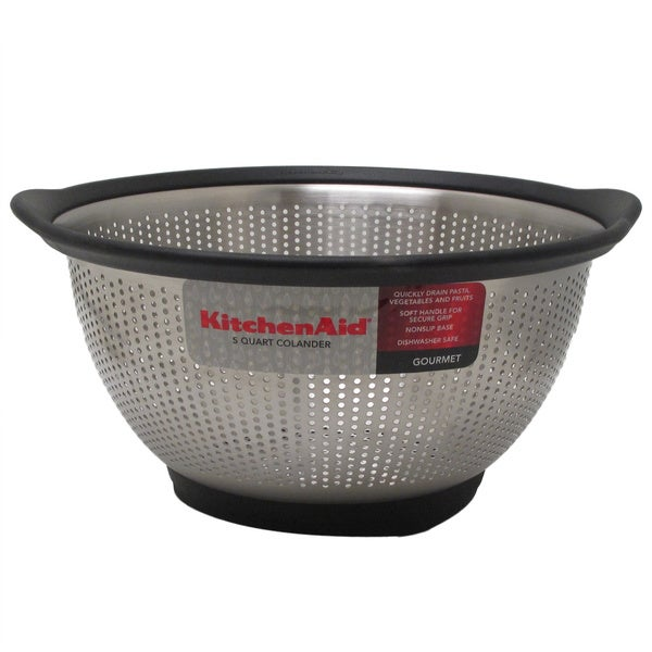 Kitchen Aid Black Stainless Steel 3-quart Colander