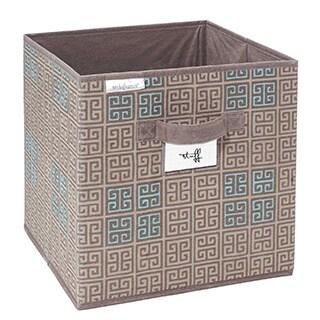 SedaFrance Cameo Key Taupe Printed Storage Cube
