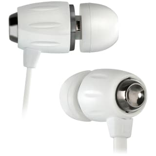 Bell'O White In-Ear Stereo Headphones with Apple Remote and Slim Carr