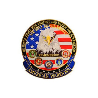 US American Warriors Round Military Patch