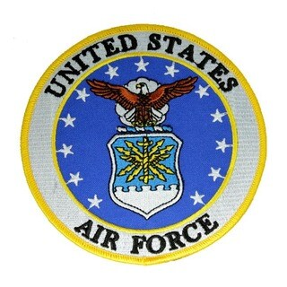 US Air Force Extra Small Round Embroidered Patch
