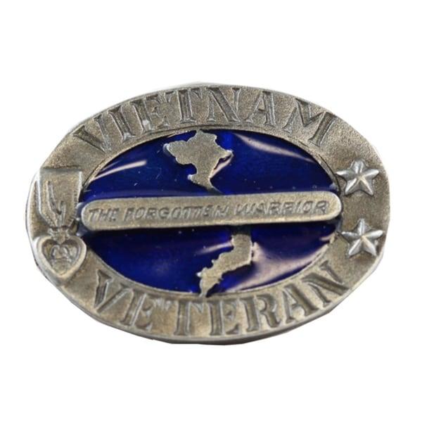 The Forgotten Warrior Vietnam Veteran Oval Pin