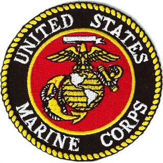 US Marine Corps Small Round Military Patch