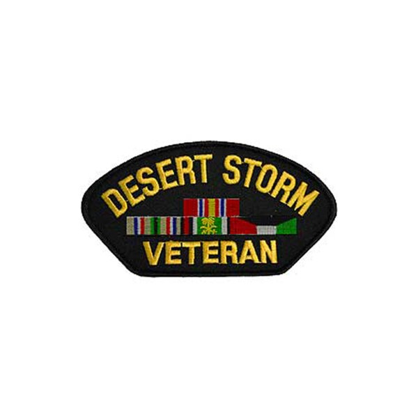 Desert Storm Veteran Small Embroidered Patch