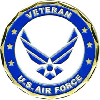US Air Force Proud Veteran Challenge Coin