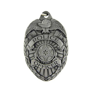 Pewter Metal Emblem Police Office Badge Key Ring