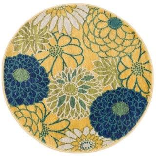 Tinsley Multi Blossom Round Rug (3'0 x 3'0)