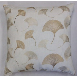 Maidenhair Feather Filled 24-inch Decorative Throw Pillow