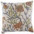 Crab Walk 24-inch Feather Filled Throw Pillow