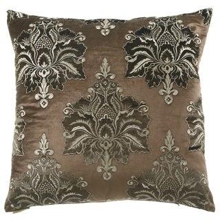 Brown Taj Mahal 24-inch Feather Filled Throw Pillow
