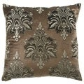 Brown Taj Mahal 24-inch Feather Filled Throw Pillow