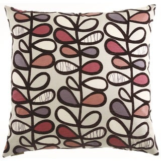 Plum Amari Feather Filled 24-inch Throw Pillow