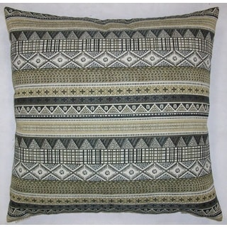 Kamba Feather Filled Throw Pillow