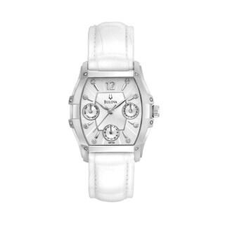 Bulova Women's 96P126 Diamond Multifunctional White Watch
