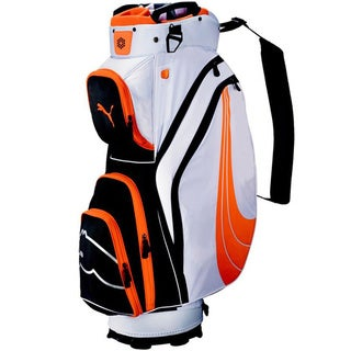 Cobra/ Puma Form Stripe Orange Cart Golf Bag