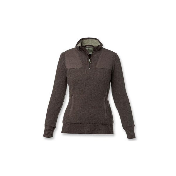 Beretta Women's Brown Arabico Techno Windshield Half-Zip Sweater