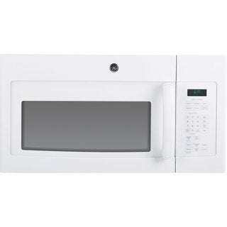 GE White Over-the-Range Microwave Oven