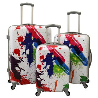 Graffiti 3-Piece Hardside Lightweight Spinner Upright Luggage Set