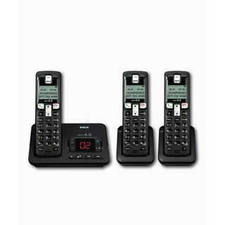 RCA 2102 Dect 6.0 Cordless Phone System with Handsets and Digital Answering System