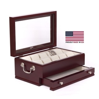 American Chest The Captain Mahogany Watch Storage Chest