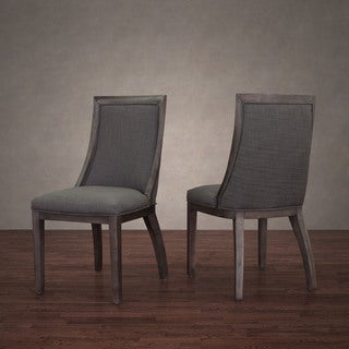 Park Avenue Smoke Linen Dining Chair (Set of 2)