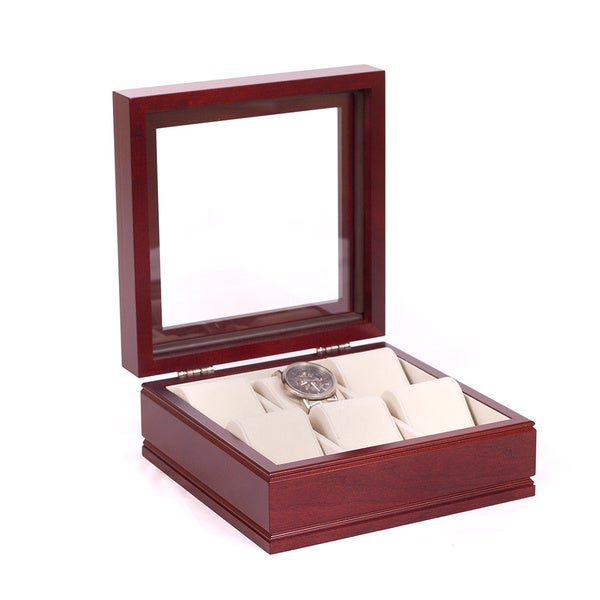 The Lieutenant Rich Mahogany Watch Storage Chest