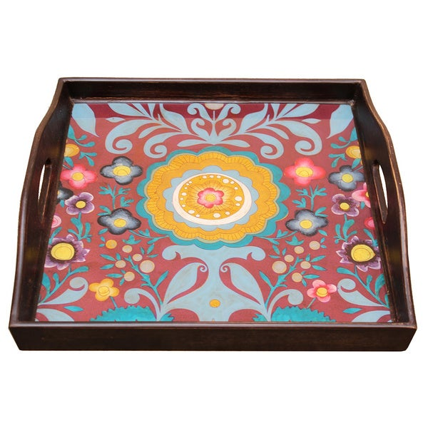 Rabat Purple Blue Pink Yellow Square Tray
