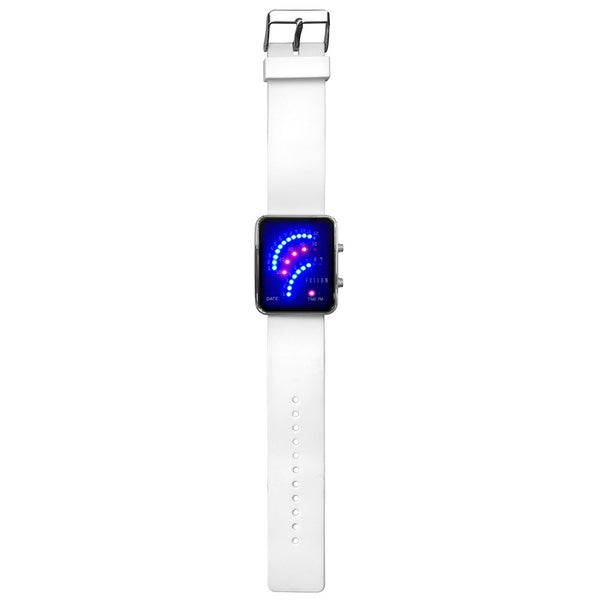 Dakota Fusion Women's Future Digital LED White Watch