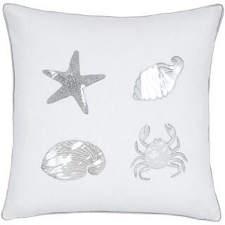 Shells Motif Ivory Seashell Decorative Pillow