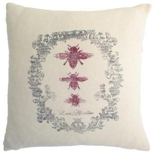 Vintage Bumble Bee Decorative Pillow