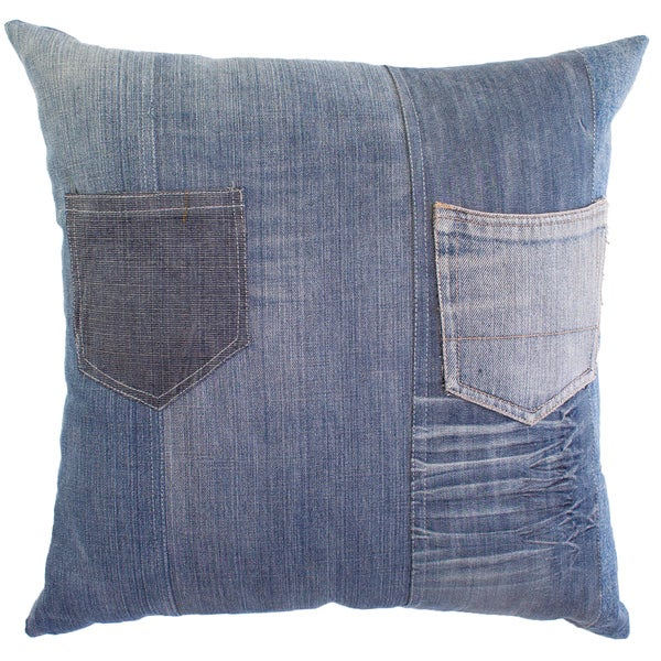 Denim Pocket Decorative Pillow