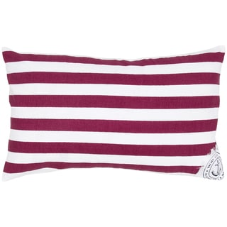 Red/ White American Flag Stripes Feather-filled Throw Pillow