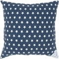 Navy Blue Star Decorative Pillow