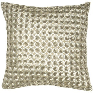 Dupioni Silver Sparkle Decorative Pillow