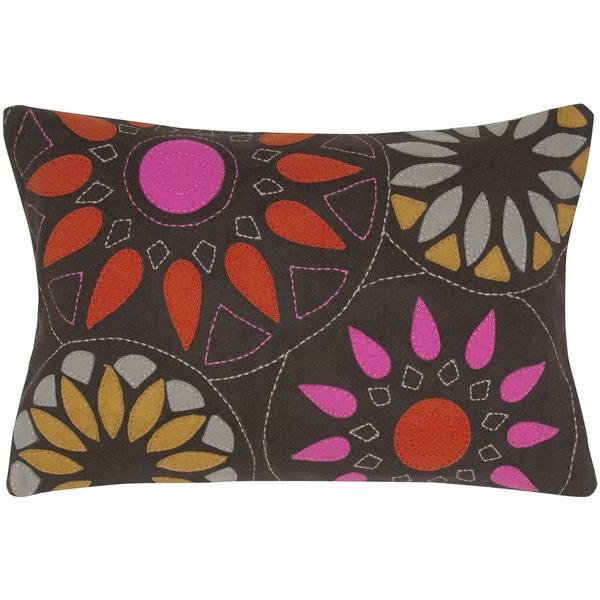 Felt and Wool Suzani Decorative Pillow