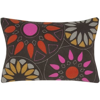 Felt and Wool Suzani Decorative Pillow