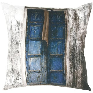 Digital Print Old World Door Feather-filled Throw Pillow