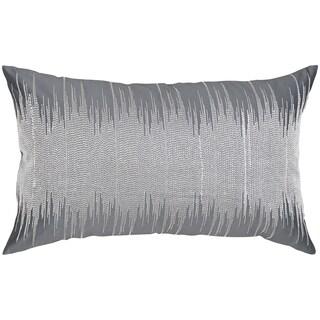 Grey/ Silvertone Dupoini Throw Pillow