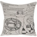 Monaco Atlas Linen 20-inch Feather Down Decorative Throw Pillow