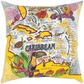 Carribean Print Printed Feather-filled Throw Pillow