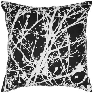 Splatter Print on Silk Feather-filled Throw Pillow
