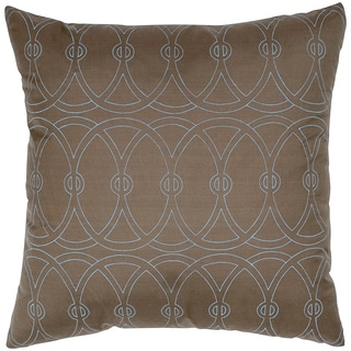 Entangle Circle Silk Print Feather-filled Throw Pillow
