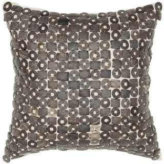 Coconut Button Mixed Shaped Shells Feather-filled Throw Pillow